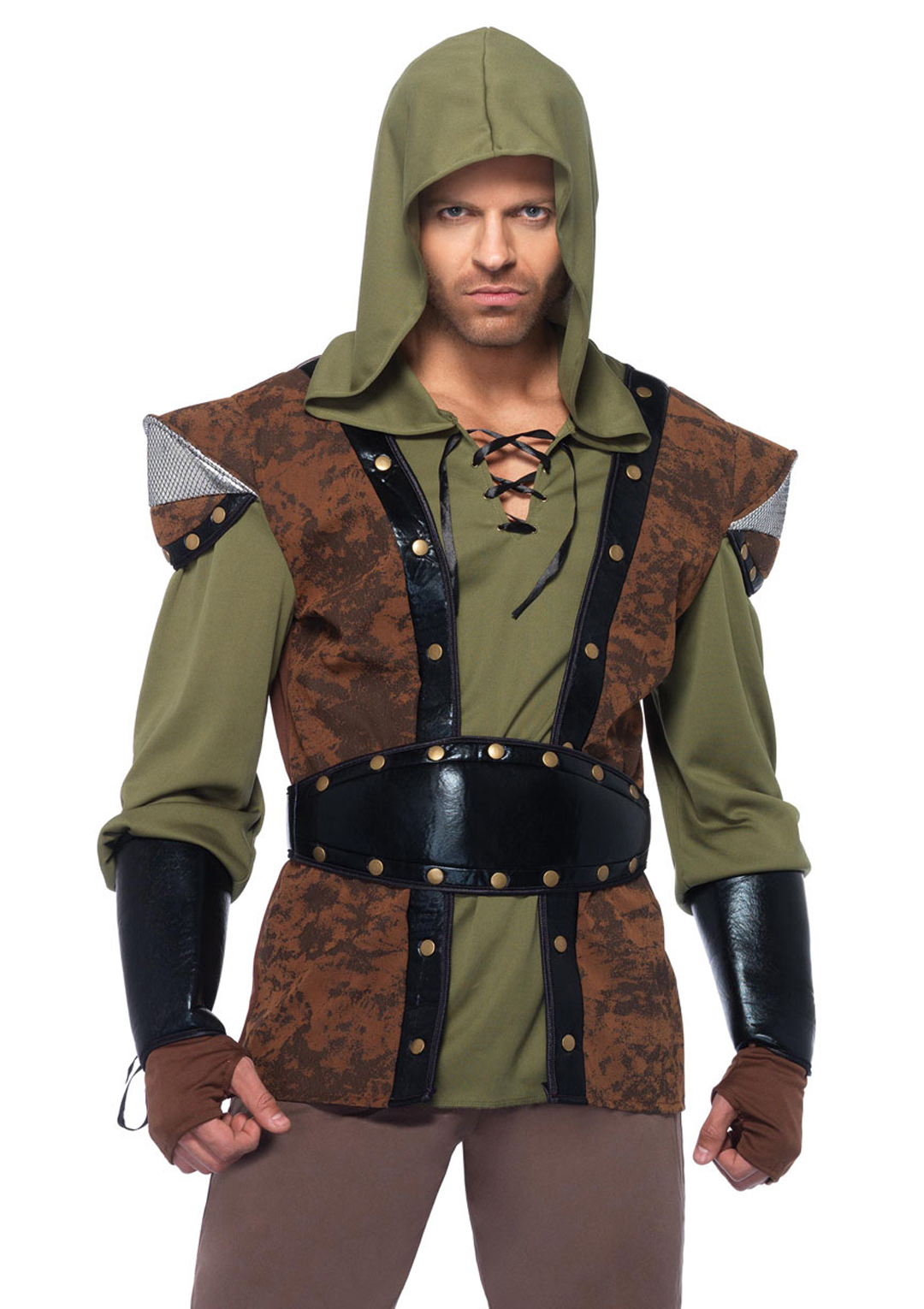 5PC.Robin Hood hooded tunic wr