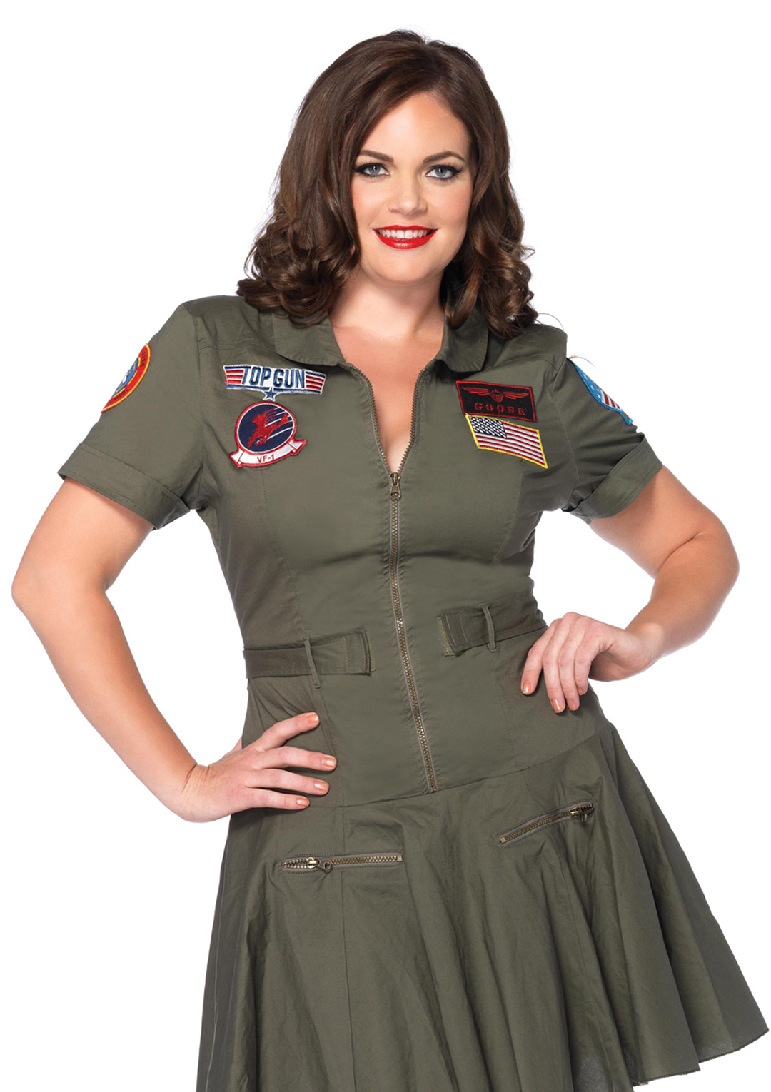 top gun flight dress plus size women's halloween costume 3x4x | ebay